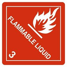 """FLAMMABLE GAS, Hazard Class 3 D.O.T. Shipping Labels, 4"""" x 4"""", Roll of 500"""