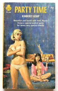 PARTY TIME ~ LESBIAN Vintage 1960's MIDWOOD Erotic Sleaze Paperback ~ GGA ~ Pulp