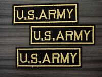 3 pcs U.S. ARMY Patch Embroidered Iron or Sew on Shirt Jacket bag hat Coat Jeans