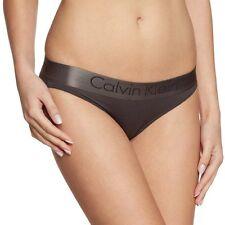 Calvin Klein Mujer Breve Bikini de tono Dual, Negro/Gris Sombra