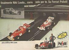 X9662 POLISTIL - Pista elettrica Niki Lauda - Pubblicità 1976 - Advertising