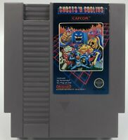 Nintendo NES Ghosts N Goblins 5 Screw Cart Only Authentic Tested Cleaned Works