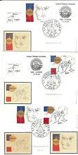 3 CARTES POSTALES 1 er JOUR N° 2141 + 42 philex france