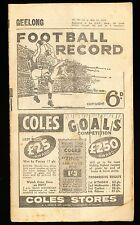 1959 Football Record Geelong vs Melbourne May 30 Footy