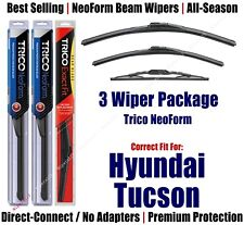 3-Pack NeoForm Wipers Front+Rear fits 2005-2009 Hyundai Tucson - 16240/160/12N