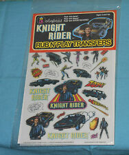 vintage KNIGHT RIDER RUB N' PLAY transfer set by Colorforms MIP sealed