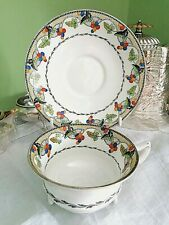 More details for antique aynsley bone china cup & saucer ~ circa 1900 ~ hand painted
