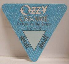 Ozzy Osbourne - Original Concert Tour Cloth Backstage Pass
