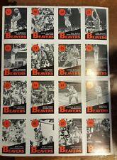OREGON STATE BEAVERS BASKETBALL 1990 GARY PAYTON & TEAM UNCUT CARD SHEET AUTO PC