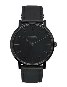 Nixon Men's Porter All Black Leather Strap Watch 50mm $125