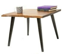 Solid Oak Coffee Table with Metal Legs cafe industrial coffee table.
