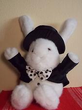 "Plush Creations Inc 1990 White Rabbit in Hat Tuxedo Magician Performer  20"""