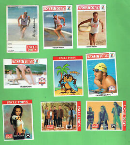 #D110.  NINE(9) UNCLE TOBYS OATS COLLECTOR  CARDS
