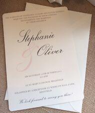 "1 RUSTIC / VINTAGE / SHABBY CHIC ""STEPHANIE"" Wedding Invitation + RSVP campione"