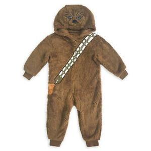 NWT Disney Store Star Wars CHEWBACCA One Piece Costume Pajamas Size 7/8