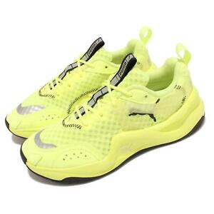 Puma Rise Neon Wns Yellow Black Women Casual Lifestyle Dad Shoes 372444-01