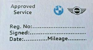 Generic BMW Mini Garage Mechanics Service History stamp ALL MAKES multicolor