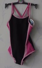 MARKS & SPENCER BLACK MIX CROSS OVER SWIMSUIT SIZES 4-5 & 5-6 YRS HOLIDAY