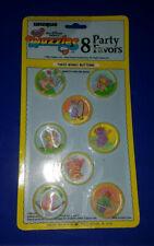 VTG The WUZZLES 8 Party Favors Unique Disney #1623 Winky Buttons
