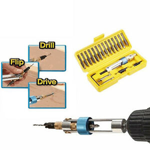 Double Driver Drill Screwdriver Set Bits Electric Ended New Cross Head 20pcs Bit