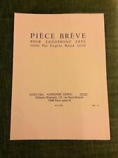 Eugène Bozza Pièce brève pour saxophone seul partition éditions Leduc