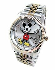Jumbo Disney Mickey Mouse Men's 'Moving Hands' Gold & Silver Bracelet Watch