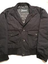 HERNO Men's Black EU Size 54 Down Padded Tech Coat Jacket Waterproof Lightweight