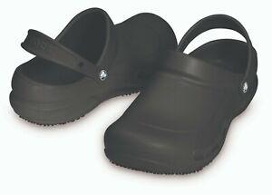 Crocs Bistro black clogs work medical shoes