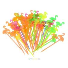 50pcs Flamingo Plastic Forks Reusable Fruit Picks Toothpick Home Kitchen Tool