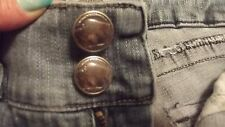 DEPARTMENT OF PEACE  BUFFALO BUTTONS WESTERN STYLE BOOT CUT LT DISTRESSED  JR 9