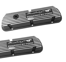 New! Ford Mustang Valve Covers Powered by Ford 289 V8 Running Horse & Script PR