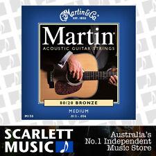 Martin M150 13-56 Medium 80/20 Bronze Acoustic Guitar Strings M-150