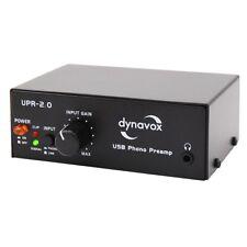 Phono-préamplificateur avec usb, DYNAVOX upr-2.0 égalisateurs, préamplificateur, noir
