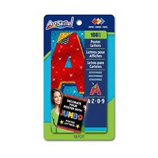 ArtSkills Jumbo Poster Letters and Numbers, A-Z and 0-9, Assorted, Holographic