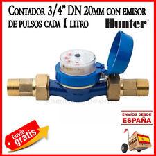 """Contador de agua riego Hunter para programador de riego Hydrawise 3/4"""" 20mm DN20"""