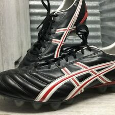 Asics Leather Lethal Flash DS HG10mm Black Football Cleats Removable Sock-liner