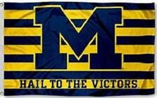 Michigan Wolverines Hail to the Victors Flag Large 3'X5' NCAA FREE SHIPPING
