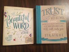 NIV Beautiful Word Bible -$44.99 Retail -Hardcover (Journaling Note Wide Margin)
