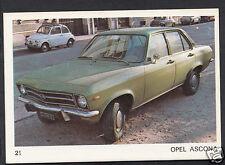 Americana Munich 1970 Card - Motor Cars - No 21 - Opel Ascona