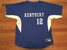 New Nike Men's L Kentucky Wildcats BP Game Jersey #12 Baseball Royal Blue