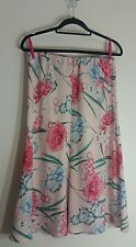 M&S Pink Mix Womens Skirt Size 12 UK 40 Ladies A Line Flare Floral Multi Colour