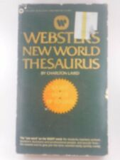 Webster's New World Thesaurus by Charlton Laird 1987 Paperback Reference Good+