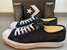 Converse Jack Purcell Canvas Low Trainers Black Corduroy 9 UK Brand New Boxed