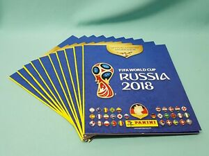 Panini WM 2018 Russia World Cup Sticker 10 x Sammelalbum Album Leeralbum Neu