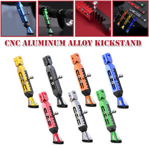 Universal CNC Aluminum Alloy Adjustable Leg Kickstand Motorcycle Foot Side Stand