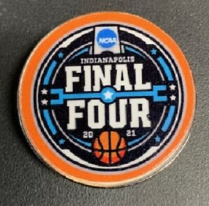 FINAL FOUR 2021 LOGO PIN MARCH MADNESS NCAA COLLEGE BASKETBALL INDIANAPOLIS