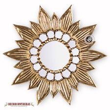 """Gold Sunflower Wall Mirror 23.6"""", 'Gold Sunflower' - Decorative Round Mirror"""