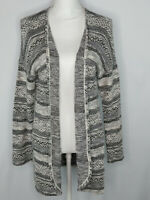 L.O.G.G. by H&M Girls Open Front Cardigan Sweater Long Sleeves Gray Size 14Y+