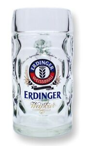 Erdinger Maßkrug 1 Liter - Mass - Maß - beer jug - Bierkrug - mit Füllstrich