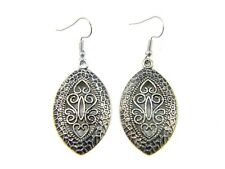 Silver Earrings Boho Drop Dangle Hooks Ethnic Tribal Bohemian Antique Jewellery